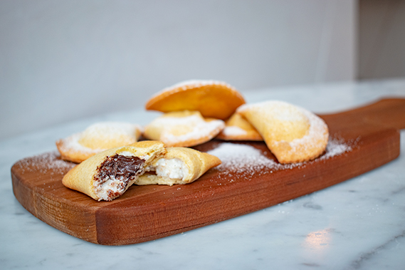 ricotta and chocolate ravioli