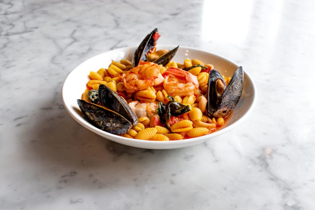 Malloreddus with seafood