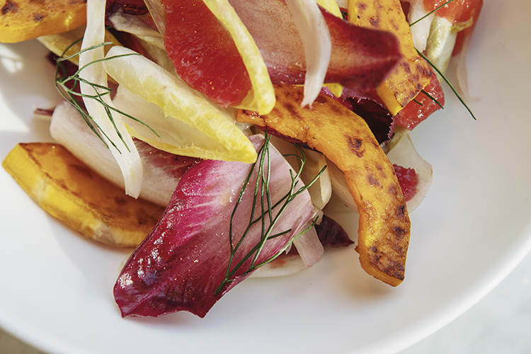 endive salad roasted squash