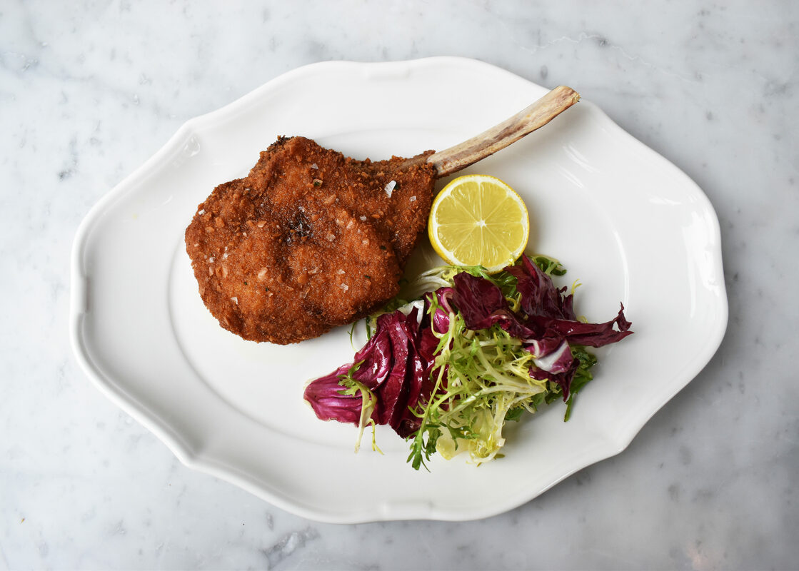 fried veal chop