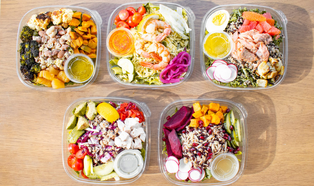 Housemade grain bowls for takeout and delivery