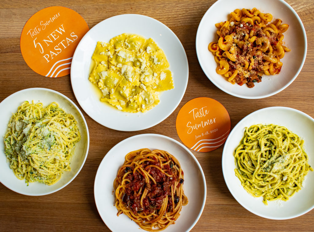 five Italian pasta dishes