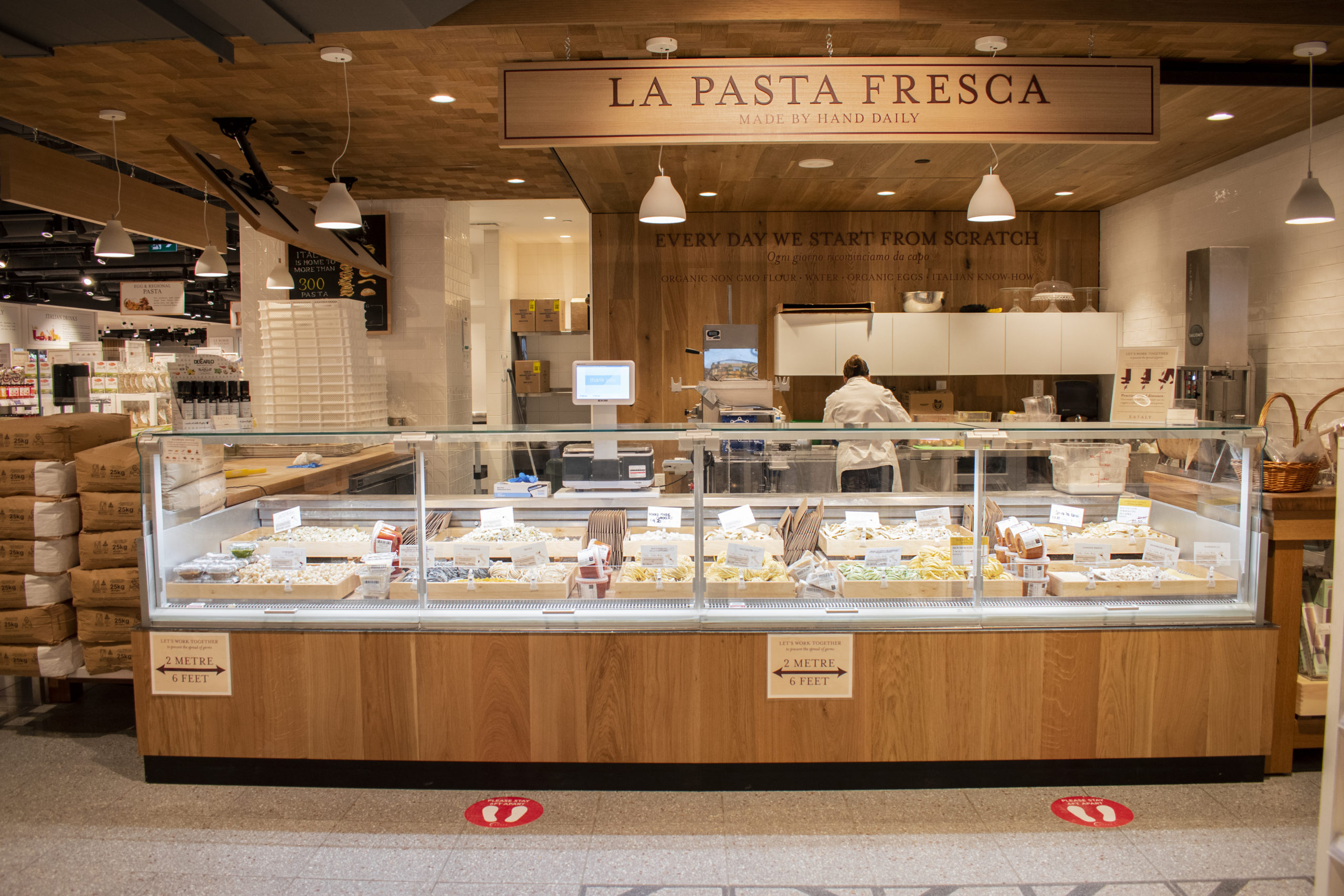 fresh pasta counter
