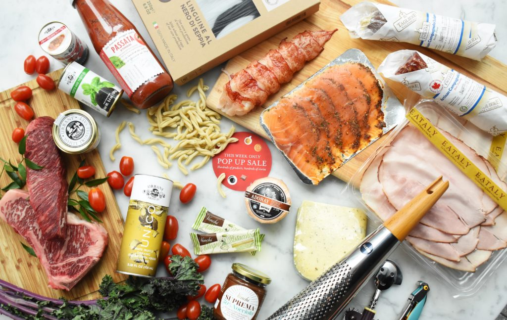 pop up sale of local and italian groceries