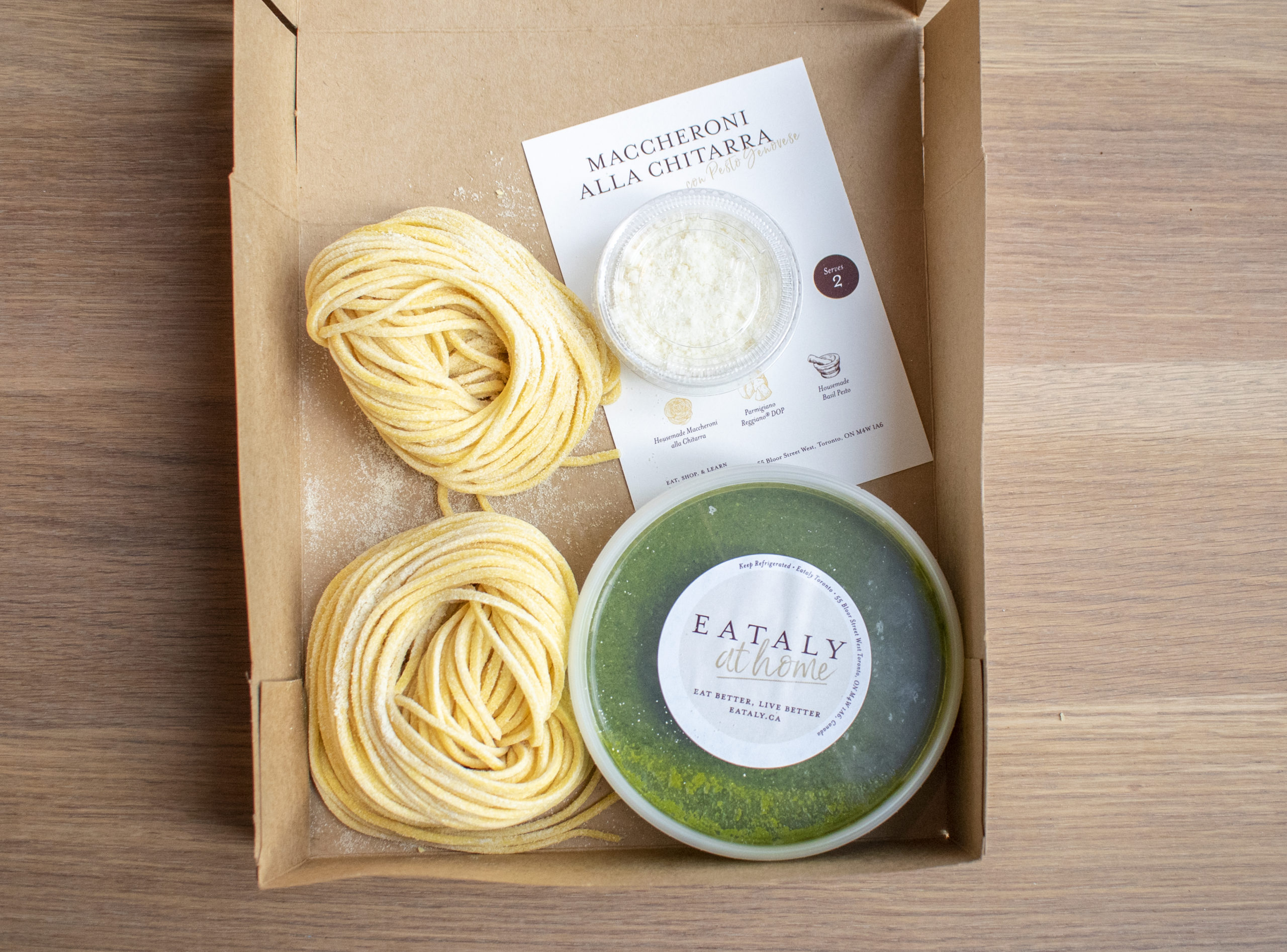 pasta with pesto kit