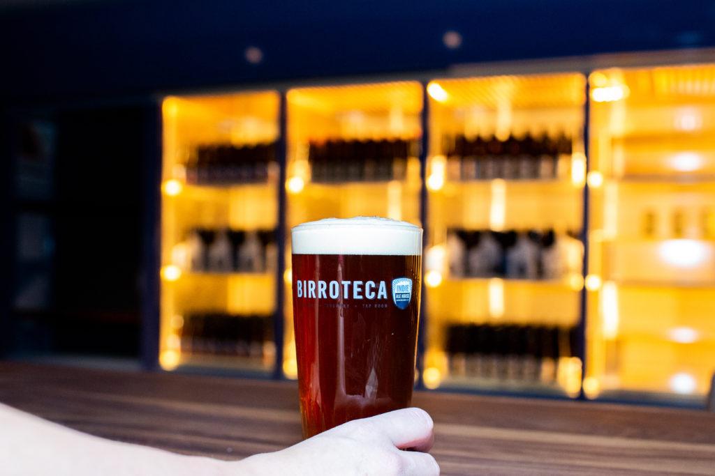 glass of birroteca beer