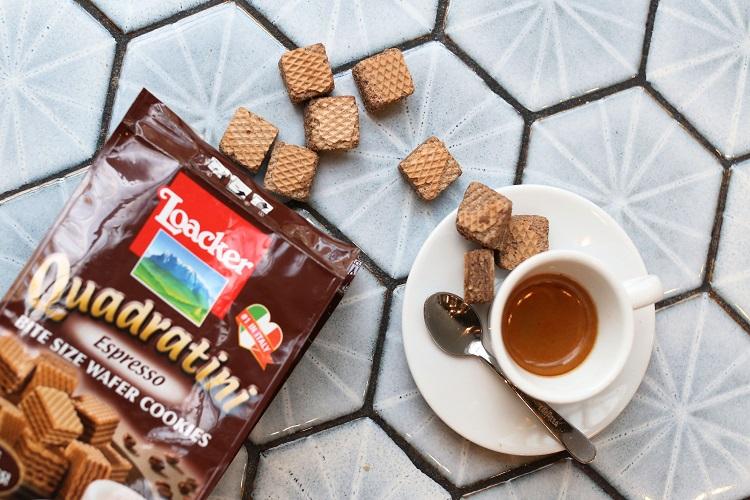loacker and espresso