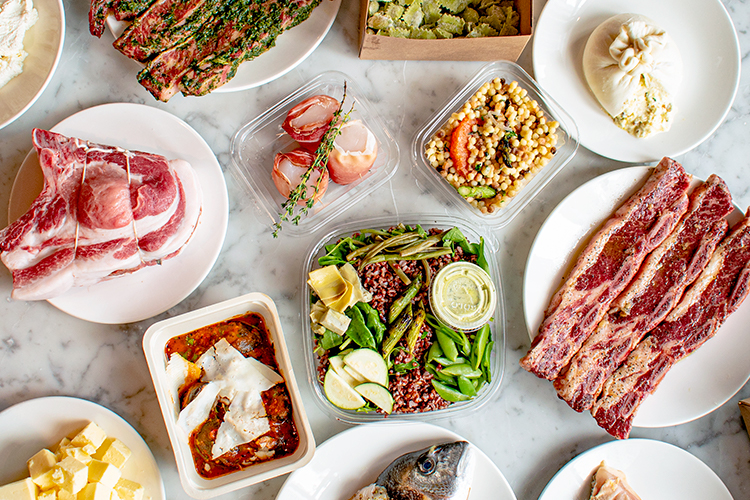 Spread of Made in Eataly dishes