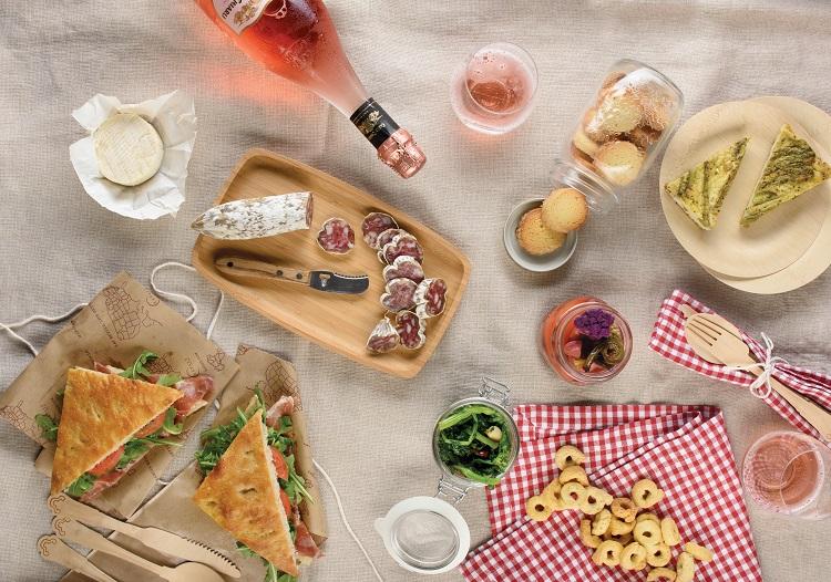 Italian picnic spread