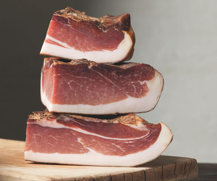 Chunks of speck
