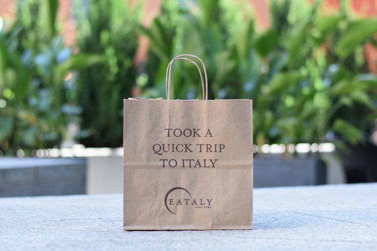 Eataly shopping bag outdoors